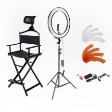 ring light and makeup chair