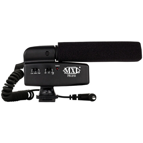 MXL FR-310 Hot Shoe Shotgun Microphone for DSLR Camera