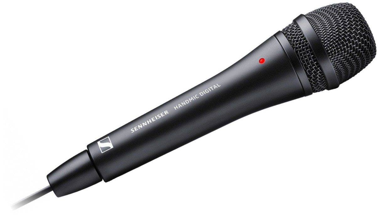 Sennheiser - External handheld microphone for iPhone, iPad, iPod and Mac/PC